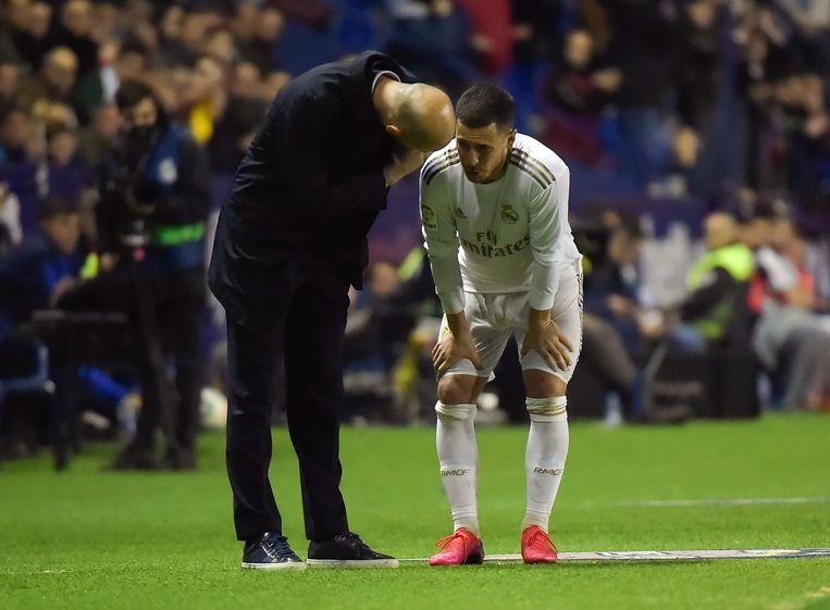 Zidane en Eden Hazard.