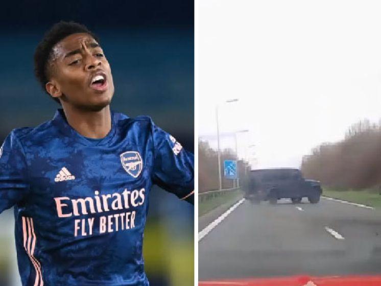 """L'accident de voiture d'un joueur d'Arsenal filmé: """"Je suis idiot"""""""