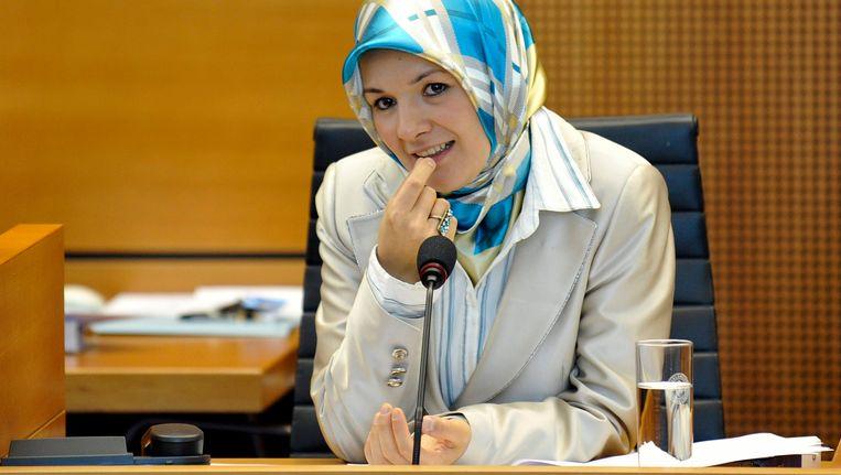 Mahinur Özdemir in het Brusselse parlement in 2009.