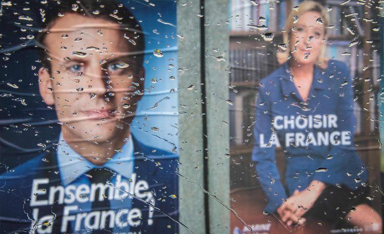 Posters van de presidentskandidaten