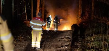 Gestolen busje brandt uit in bossen bij Epse