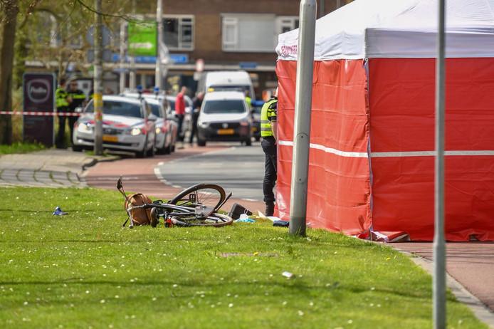 De plaats van het ongeval op de Thorbeckelaan in Gouda.