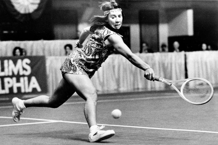 Billie Jean King in 1977.