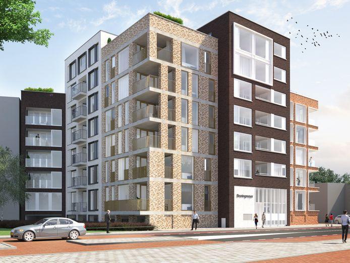 Volgend jaar na de bouwvakvakantie staan er 43 appartementen op de hoek van de Deurningerstraat en de Molenstraat in de Enschedese binnenstad.