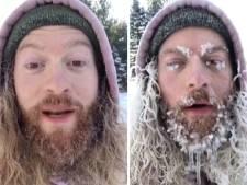 Il laisse sa barbe geler pendant deux heures par -26 degrés