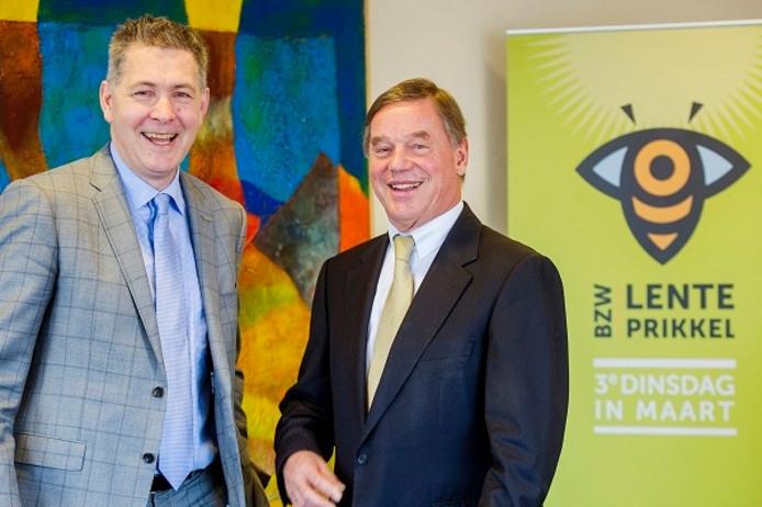 De nieuwe en scheidend voorzitter van de BZW, Peter Struik (links) en Peter Swinkels.