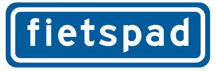 Het bord bij een zogenoemd 'onverplicht fietspad' (bord G13).