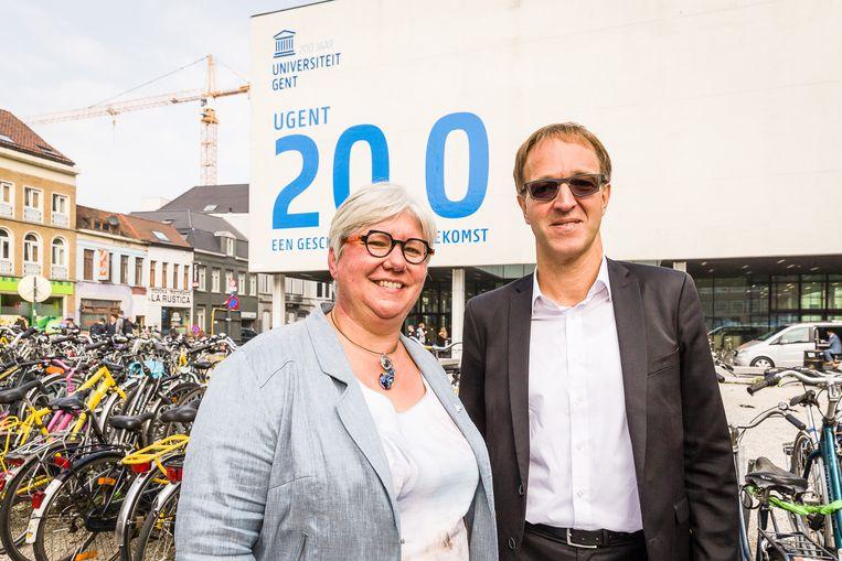 UGent vicerector Mieke Van Herreweghe en rector Rik Van de Walle