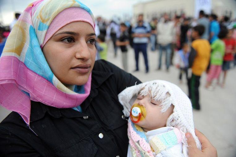 Een Syrische vluchteling in Turkije. Beeld afp