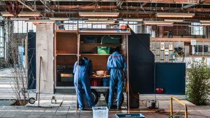 Architecten en buurtbewoners Vaartkom maken kunstwerk