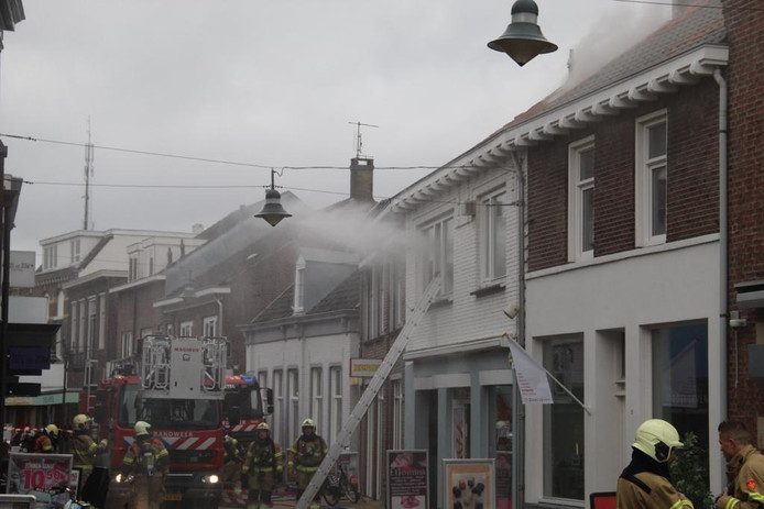 Brand in bovenwoning Boxtel.