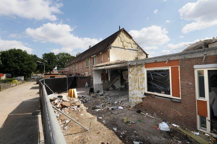 Het ontplofte huis in Hillekensacker.