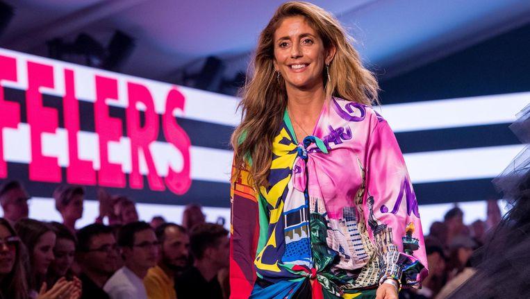Danie Bles op de catwalk van de show van Lichting 2018 Beeld ANP