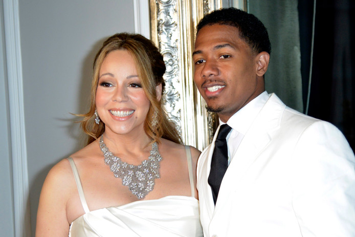Mariah Carey en Nick Cannon in 2012.
