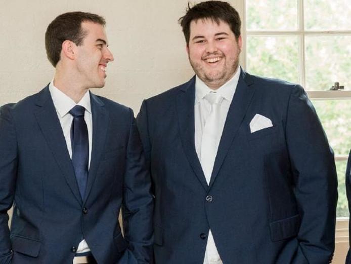 Josh, rechts, op zijn zwaarst.