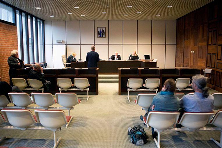 Archieffoto. De rechtszaal in de Brugse rechtbank.