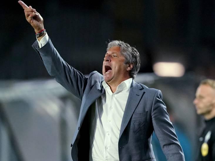 NAC-trainer Brood blij voor Van Hooijdonk: 'Er kwam toch wat druk op hem te zitten'