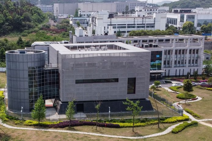 Een luchtfoto van het in opspraak geraakte Wuhan Institute of Virology in de Chinese stad Wuhan.