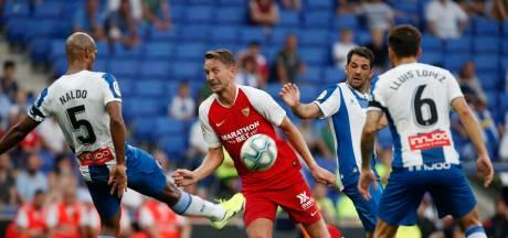 Debuterende De Jong met Sevilla maatje te groot voor Espanyol