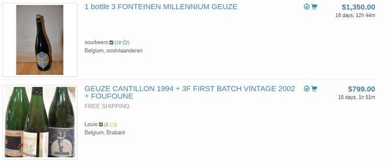 Net als Westvleteren is vooral oude geuze erg gewild bij buitenlanders. De prijzen swingen de pan uit. Voor een 'gewone' fles Cantillon betaal je ongeveer 10 euro. Een vintage fles is altijd wat duurder, maar zeker niet zo hoog als hier geafficheerd.