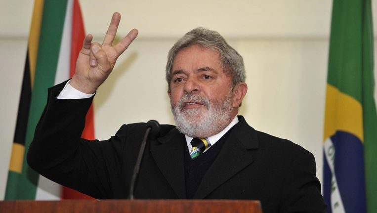 Luiz Inácio Lula da Silva was president van Brazilië van 2003 tot 2011.
