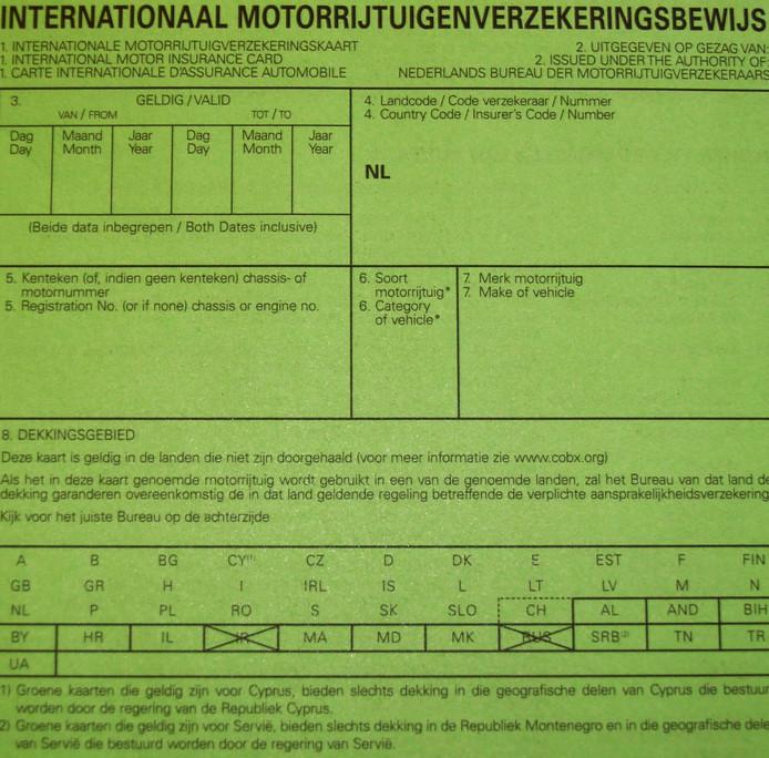 groene kaart auto Waarom heet het verzekeringsbewijs nog groene kaart? | Auto | AD.nl