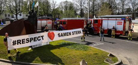Brandweer zingt voor ziekenhuizen in de regio: 'We zijn trots op jullie allemaal'