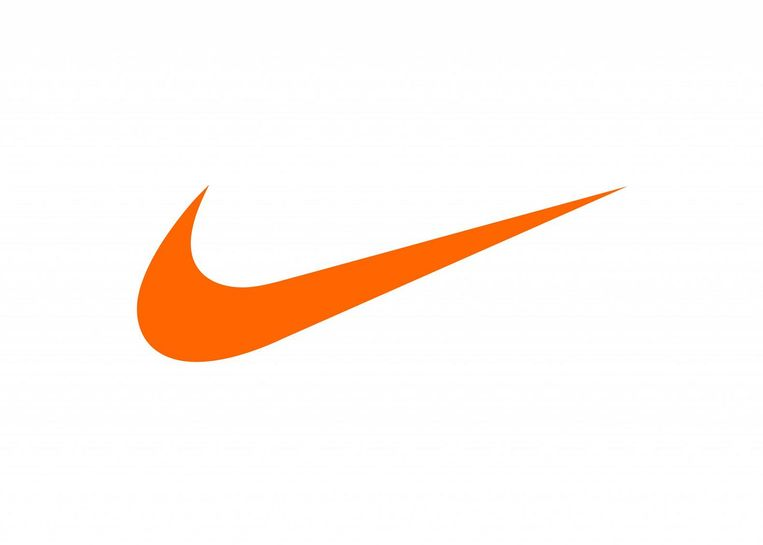 De swoosh van Nike Beeld