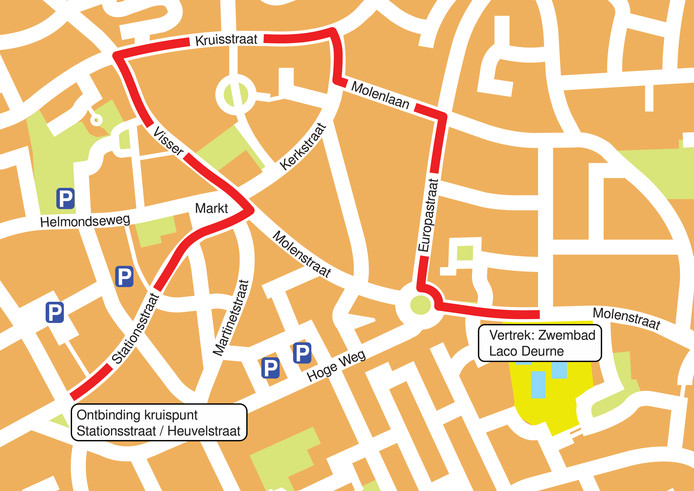 Aangepaste route Deurnese optocht