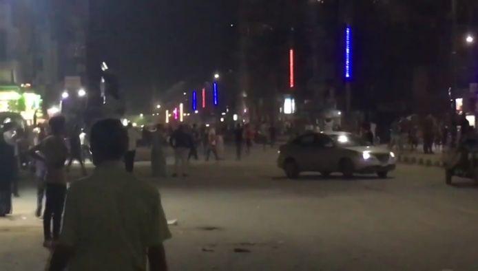 Portesten in Suez zouden hebben geleid tot harde confrontaties met de politie.