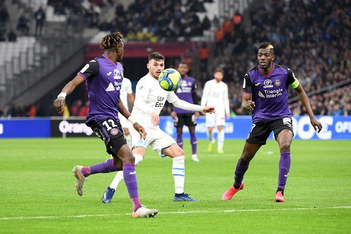 Ibrahim Sangaré (rechts) in het shirt van Toulouse.