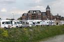De camperplaats op de Europakade bij Tolkamer.