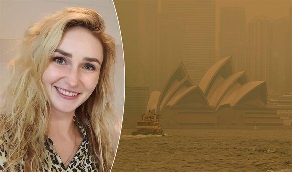 Anastassia Dikikh woont in Sydney. De stad zit onder een dichte rook door de bosbranden in de deelstaat Nieuw-Zuid-Wales.