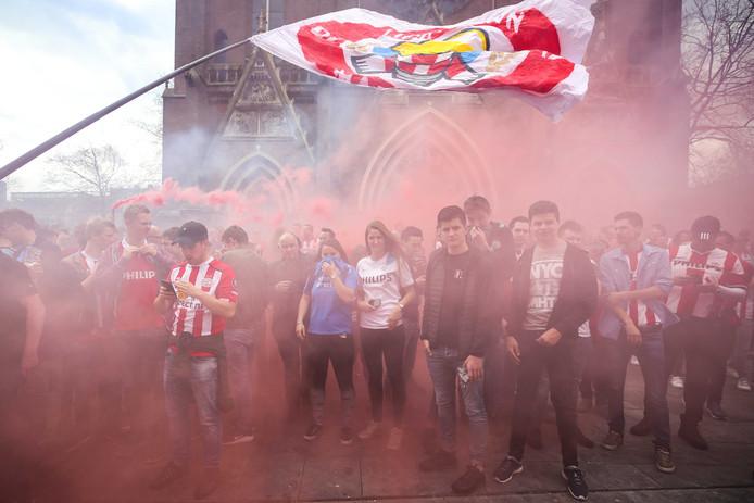 PSV-fans in Eindhoven.