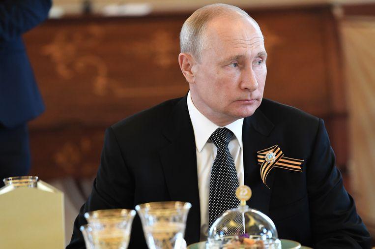 President Vladimir Poetin, woensdag, aan de vooravond van het belangrijke referendum.