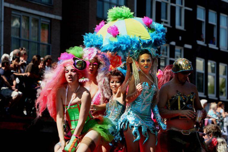 De Gaypride in 2007. Foto ANP/Robin Utrecht Beeld