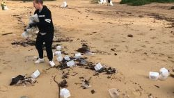 Mondmaskers spoelen aan langs de oostkust van Sydney