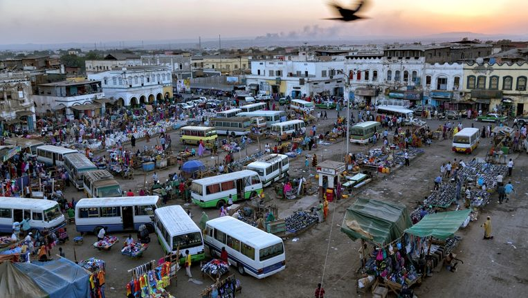 De markt in Djibouti, de hoofdstad van het gelijknamige land. Beeld John Stanmeyer