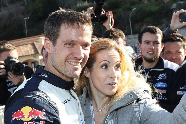Sébastien Ogier met zijn echtgenote Andrea Kaiser.