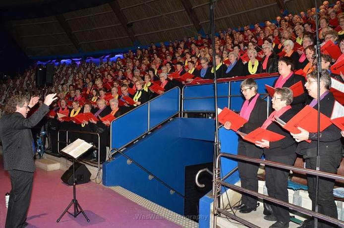 Ruim 200 koorleden zingen mee in een concert met solisten en een orchestra voor de kankerbestrijding.