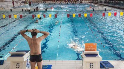 Maar half sportzwembad door kapot rolluik in Rozebroeken