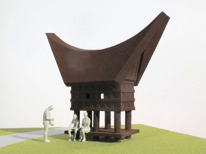Het Koffijhuis heeft via de gedachten van kunstenaar Marcel Smink een direct verband met de Halve Zolenlijn.