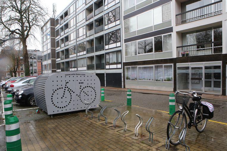 Een fietsbox kan je huren voor € 30 per fiets per jaar