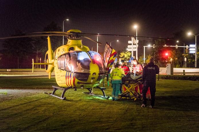 Er werd ook een traumahelikopter opgeroepen.