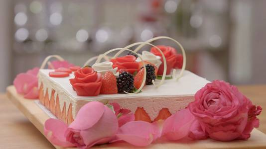 De taart 'Frisse liefde'.