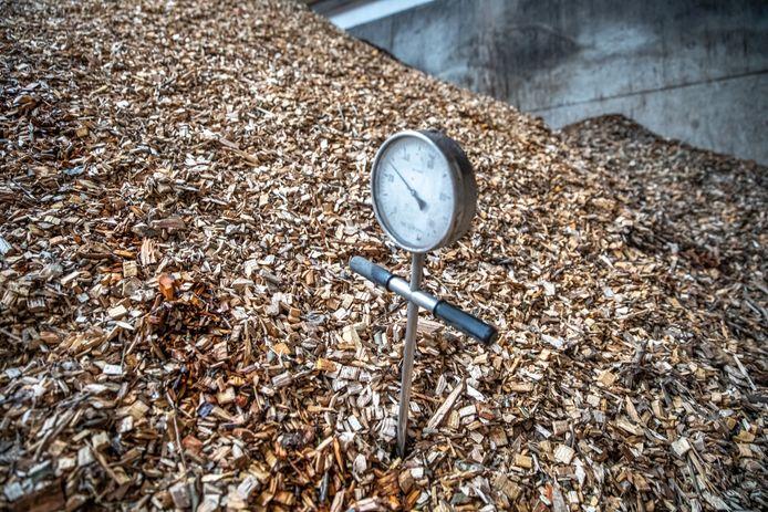 Biomassa, foto ter illustratie.