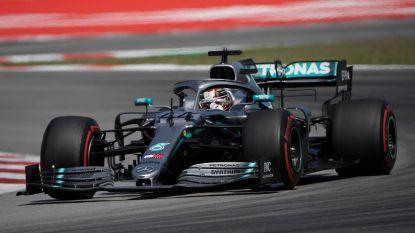 Mercedes ook in Spanje oppermachtig: Hamilton wint en wipt naar de leiding