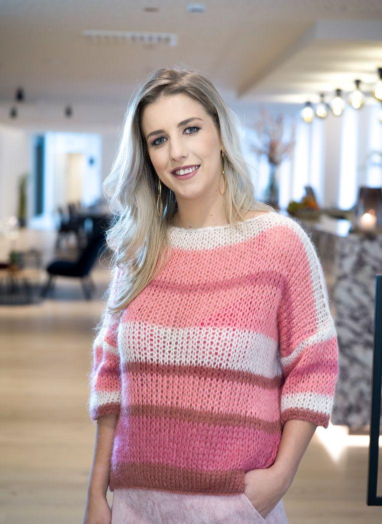 Laura Lieckens, bekend van haar deelname in 'Blind Getrouwd'