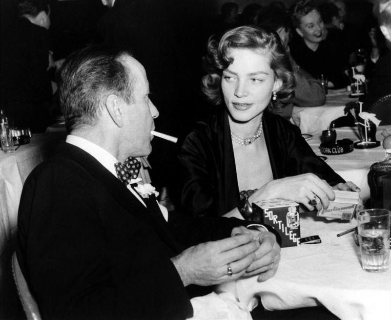 1950, met echtgenoot Humphrey Bogart Beeld ap