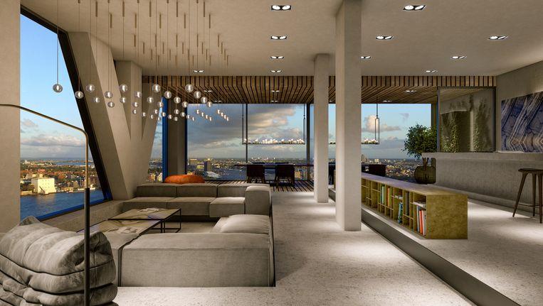 Het gaat om de volledige 25ste verdieping van het Pontsteigergebouw Beeld